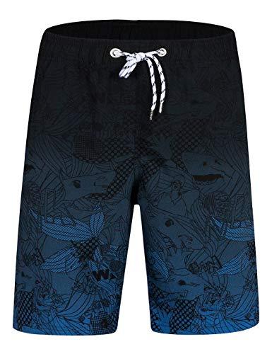 APTRO Herren Short Freizeit Badehose Schnelltrocknend Badeshorts Blau BS023 XL