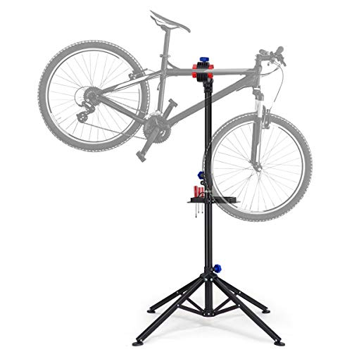 KUOKEL Bike Repair Stand, Foldable Bicycle Repair Rack Workstand, Height Adjustable
