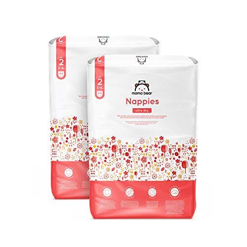 Marchio Amazon - Mama Bear - Pannolini ultra asciutto - Taglia 2 (3-6 kg) - Con canali dareazione - 168 pannolini (2 confezioni x 84) - Nuova versione