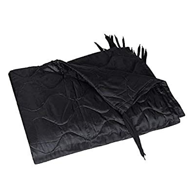 HSD Poncho Liner Military Woobie, Lightweight Multi Use Indoor & Outdoor Blanket, Camping Gear, Sleeping Bag Liner, Survival, Hunting, Tactical Equipment (Black, Adult Size)