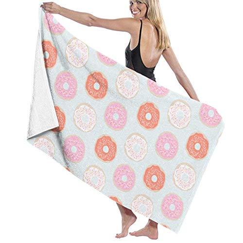 asdew987 Toallas de playa Donuts Toallas de baño para adolescentes niñas adultos toalla de viaje toalla de 31 x 51 pulgadas