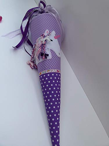 Einhorn Schultüte aus Stoff Zuckertüte Einhorn mit Namen