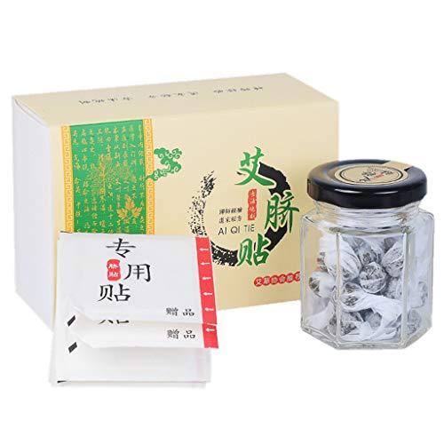 PENG Moxa Etiqueta engomada del Ombligo Masaje de acupuntura Almohadilla de moxibustión Abdomen Caliente Pasta Parche para pies Tratamiento de Medicina de ajenjo Chino