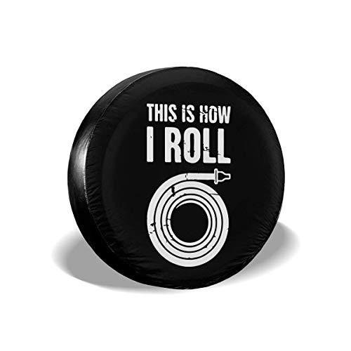 WCHAO Así es como enrollo la Cubierta del neumático de la Rueda de Repuesto del Bombero Ajuste Universal