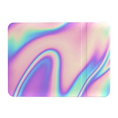Qi Certified Wireless Charging Pad Holographic 80 S 90 S Gaming Mouse Pad 3 in 1 Qi Wilress Charging Mouse Mat 5w/7.5w/10w Gaming Mouse Pad for Samsung & iPhone