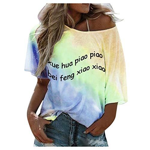 Floweworld Grafik T-Shirts für Frauen Vintage Funny Cat Print Tops Sommer Casual Crewneck Kurzarm Tunika Tops Blusen Slim Soft Tunic Tops Tee