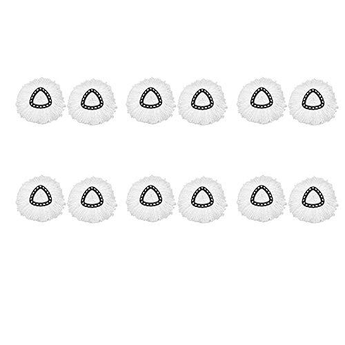 Andylies Paquete de 12 Cabezales de Repuesto para Trapeador Giratorio, Recambio de Trapeador de Microfibra, Cabezales de Repuesto para Trapeador Giratorio