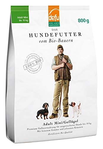 defu Trockenfutter für Hunde, Adult, für kleine Rassen, Geflügel, Alleinfuttermittel, 2er Pack (2 x 800 g)