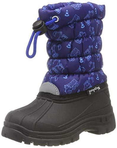 Playshoes Jungen Unisex Kinder Winter-Bootie Verkehr Schneestiefel, Blau (Marine 11), 28/29 EU