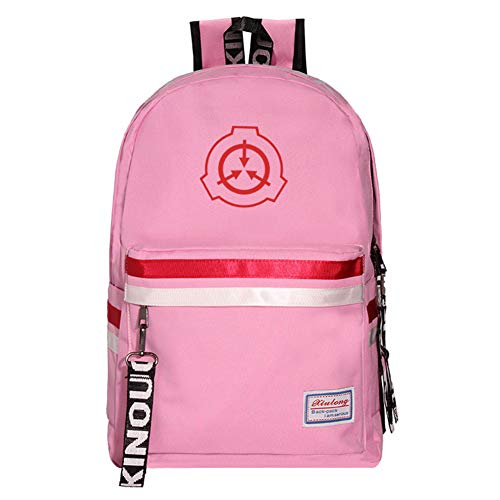 JESU SCP Printed School Backpack, Teens Bookbag Fashion School Bags, Durable Lightweight, Student Schoolbag Bag Travel,Pink1