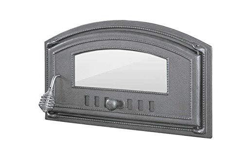 Ssellon - Puerta de horno de hierro fundido para horno de pizza, para horno de piedra, horno de pan, hierro fundido