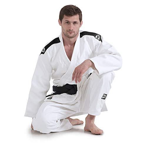 GREEN HILL JUDOGI Professional IJF Approved Judo Bianco GI White Kimono Unisex (Banda sulle Spalle...