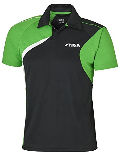 Mantel de Tenis de Mesa: Stiga Camisa Viaje Negro/Verde/Blanco Talla XL
