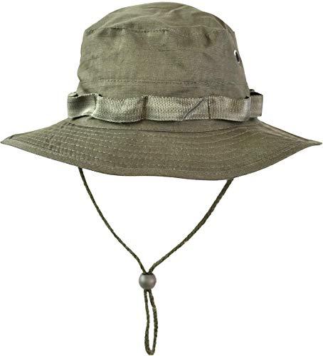 normani Australian Outdoor Hut Boonie Hat in vielen Farben und Grössen Farbe Oliv Größe S