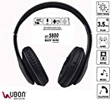 UBON BT-5800 Wireless/Bluetooth Headset with Mic (Black)
