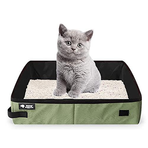 Caja de Arena para Gatos, Caja de Arena para Gatos Portátil, Caja de Aseo para Gatos, Caja de Arena Portátil Plegable, para Viajes Aire Libre con Mascotas