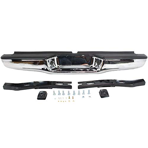 MAPM Rear Bumper Assembly Chrome Finish Face Bar Except Step Side For Toyota Tacoma 1995-2004 - TO1102215