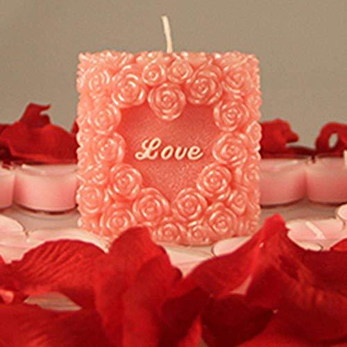 AMITD 1 stuk siliconenvorm kaars productie vormen hart roos chocoladevormen DIY handgemaakte Valentijnsliefde cadeauvorm