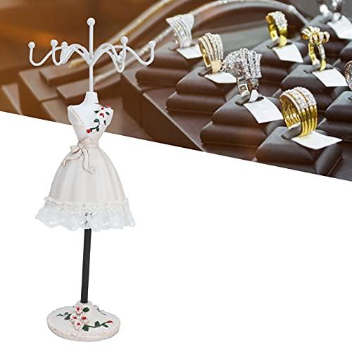 01 Expositor para joyería, poliresina giratoria Expositores y expositores Sencillos para joyerías para Tiendas de Ropa para Tiendas de Accesorios(Champagne No. 1)