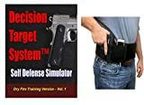 Decision Target System Vol 1 - Dry Fire Training CCW Simulator with Tactical Belly Band Holster Bundle