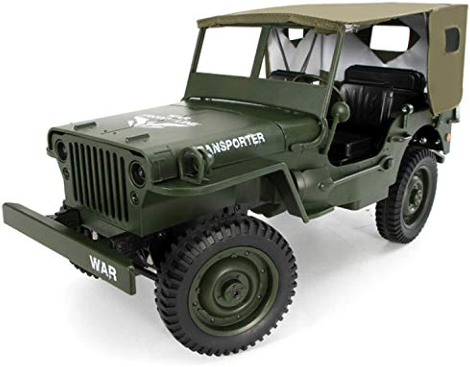 Kanmeipp Remote Control Car Remote Control Tracked Military with Ceiling Led Light Toy B
