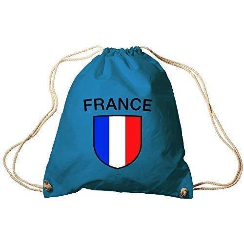 Sporttasche Turnbeutel Trend-Bag Print Fahne Flagge France Frankreich TB73351 blau