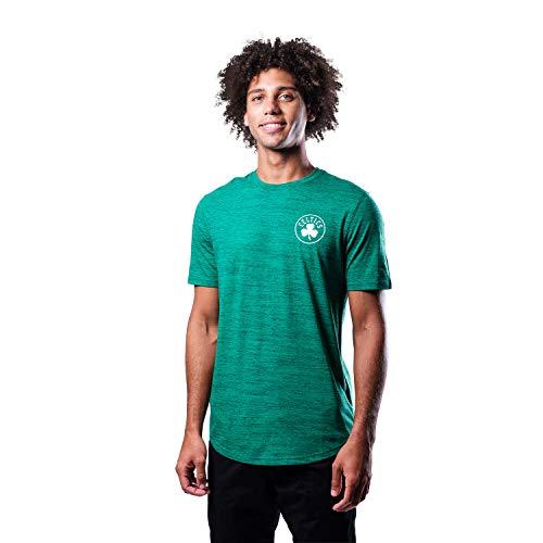 Ultra Game NBA Boston Celtics Mens Space Dye Tee Shirt, Team Color, Small