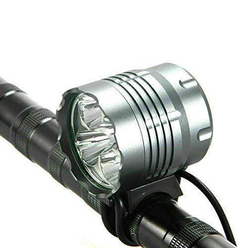 Fahrradlichter, 6000 Lumen, 5 LEDs, wasserdicht, Mountainbike-Scheinwerfer mit wiederaufladbarem Akku, 3 Modi von Fahrrad-Scheinwerfern für sicheres Fahren