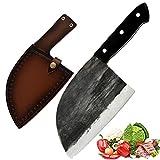 Promithi - Coltello da cucina giapponese, per macellaio, santoku, spelucchino, coltello multiuso, coltello da cucina per tritacarne