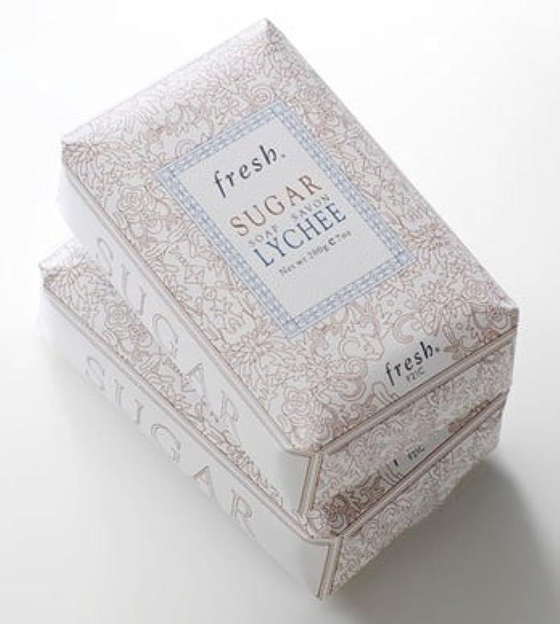 の頭の上スキッパー豊かにするFresh SUGAR LYCHEE SOAP(フレッシュ シュガーライチ ソープ) 7.0 oz (210g) by Fresh for Women