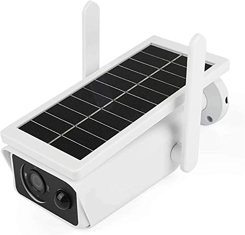 ZGHYBD Solar Powered Security Camera Outdoor Solar Powered Rechargeable Wireless 1080P WiFi Weatherproof Night Vision PIR Motion Detection Surveillance Camera