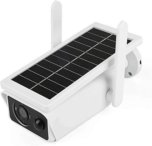 Cámara de seguridad inalámbrica Pan Tilt con panel solar, cámara IP WiFi 1080P Detección de movimiento PIR, visión nocturna, audio bidireccional, IP65 a prueba de agua, almacenamiento SD/en la nube