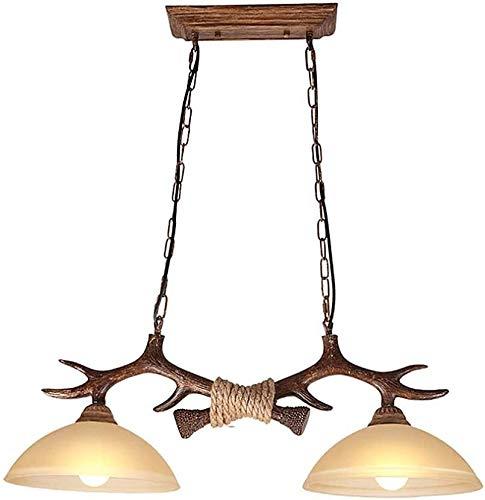 Lampara techo lampara salon techo lamparas Retro Antlers Lampadario Lights, 2 luci a sospensione Industriale chiaro Tavolo da pranzo A sospensione appuntamento fisso for sala da pranzo cucina Living R