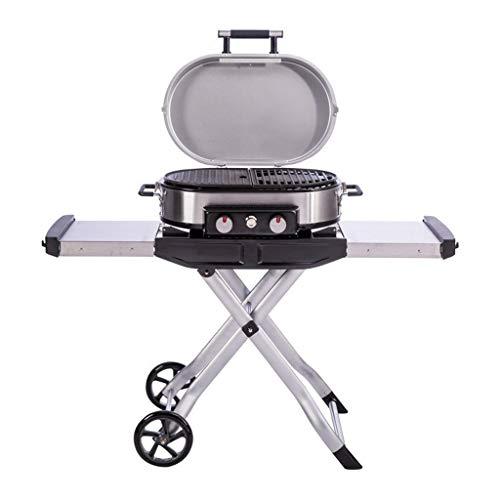 SISHUINIANHUA Außen Charcoal Grill Grill-Werkzeug Tragbare BBQ Grillrost Für Home Camping-Reisen,Schwarz