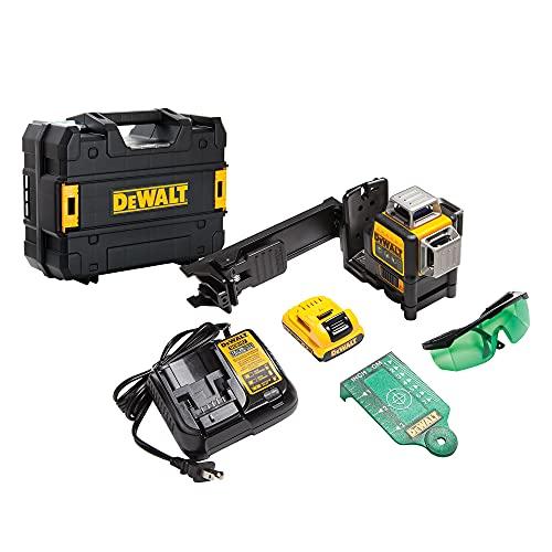 DEWALT 12V MAX Line Laser, 3 X 360, Green (DW089LG) , Yellow