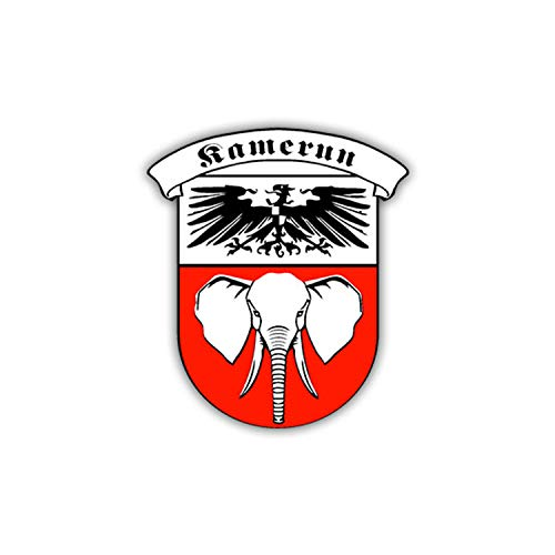 Aufkleber/Sticker Kamerun Kolonie Wappen Abzeichen Afrika Schutz 7x6cm A1077