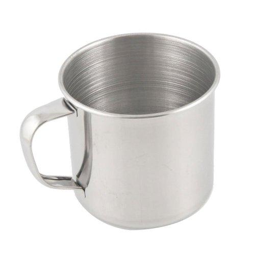 SODIAL(R) Tasse de the/a cafe en acier inoxydable Pour le voyage ou le camping