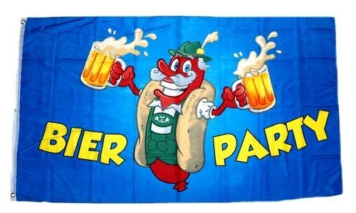 Fahne/Flagge Bier Party 90 x 150 cm
