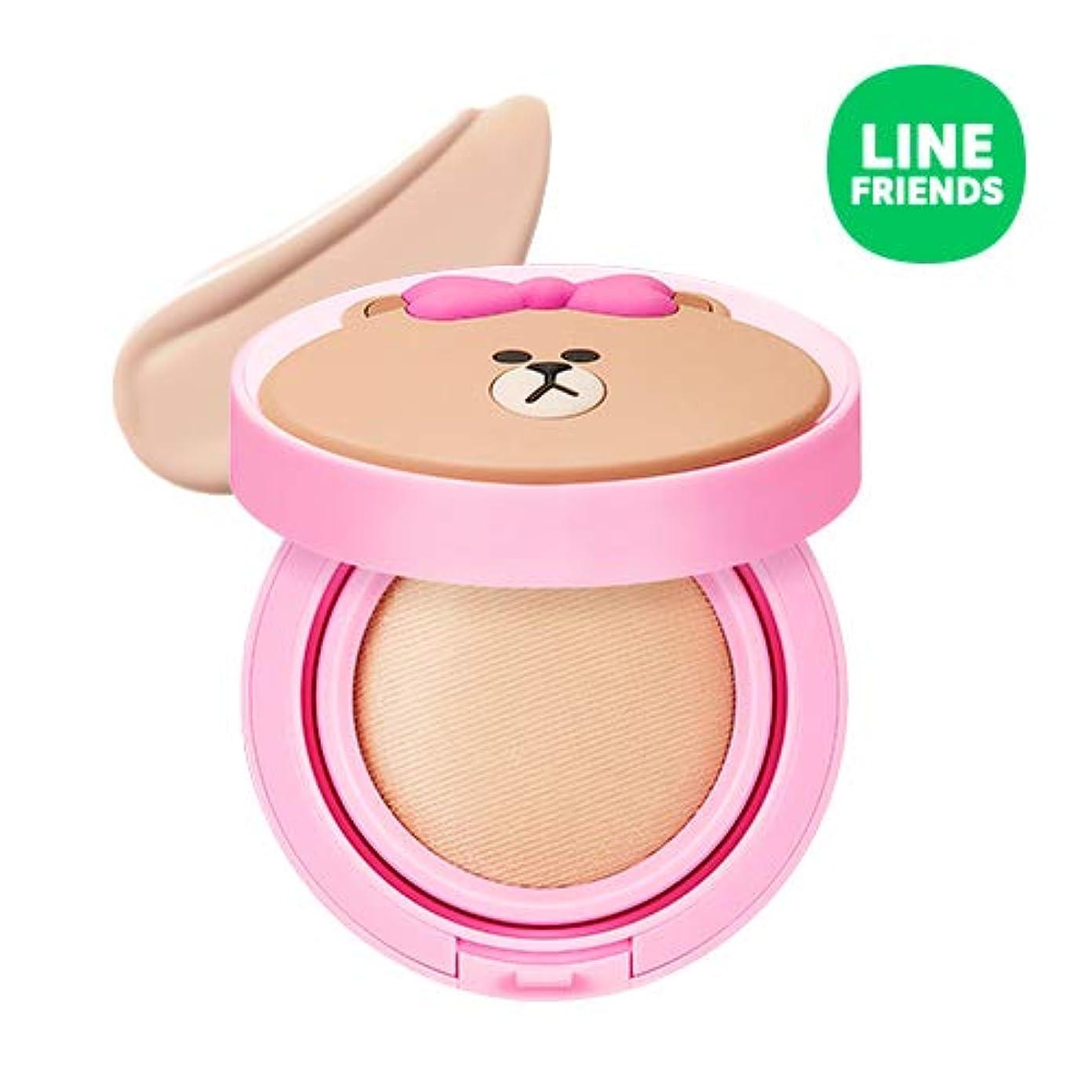 馬鹿げた骨髄現代ミシャ(ラインフレンズ)グローテンション15g / MISSHA [Line Friends Edition] Glow Tension SPF50 PA+++ #Fair(Pink tone No.21) [並行輸入品]
