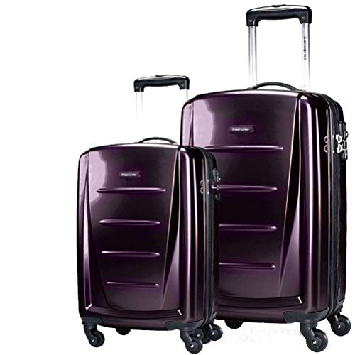 Samsonite Winfield 2 Fashion 2 Piece Set Spinner 20 and 28 With Travel Pillow (One Size, Purple)