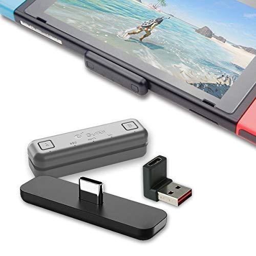 対応Nintendo Switch/Switch Lite PS4 Macbook PC用 GuliKit Route Air Bluetooth アダプター aptX低遅延 無線 Bluetooth BTH オーディオ レシーバー トランスミッターワイヤレス Bluetoothイヤホンへの接続をサポート