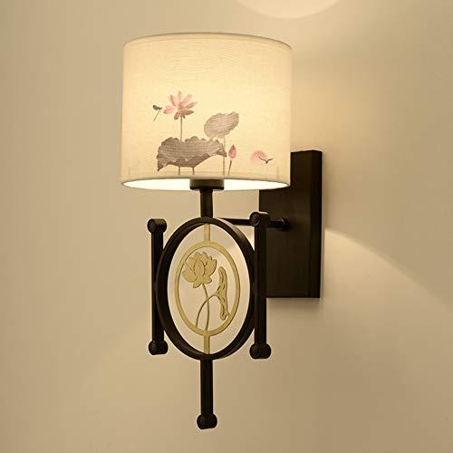 Wandlamp Stof lampenkap LED Print Knop Type, Geschikt voor Restaurant Hotel Woonkamer Balkon gang
