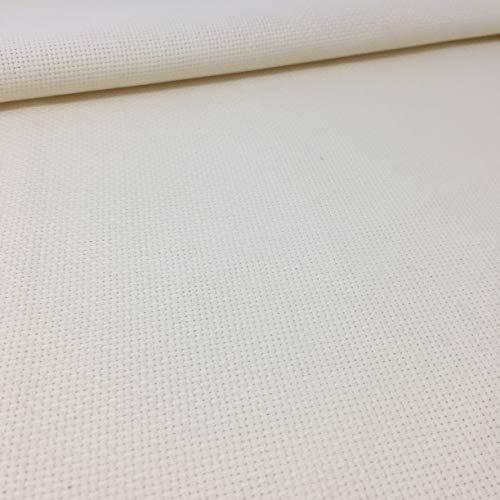 Tela para Punto de Cruz | 75cm x 50cm | 5,5 puntos/cm – 14 cuentas | 100% algodón | Elige color | de Delicatela (Beige)