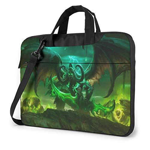 World Warcraft Illidan Laptop Sleeve Laptop Bag Tablet Briefcase Ultraportable Protective Handbag Oxford Cloth-for MacBook Pro/MacBook Air/Notebook Computer 13 Inch