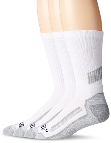 Carhartt Men's Force Performance Work Crew Socks (3/6 Packs), White, Shoe Size: 6-12