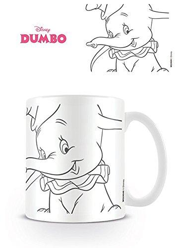 Empireposter – Dumbo – Line – Taille (cm), env. 8,5 cm Hauteur 9,5 – Licence Tasses, NEUF – Description : – Mug en céramique, blanc, imprimé, capacité 320 ml, licence officielle, Passe au Lave-Vaisselle et au micro-ondes de