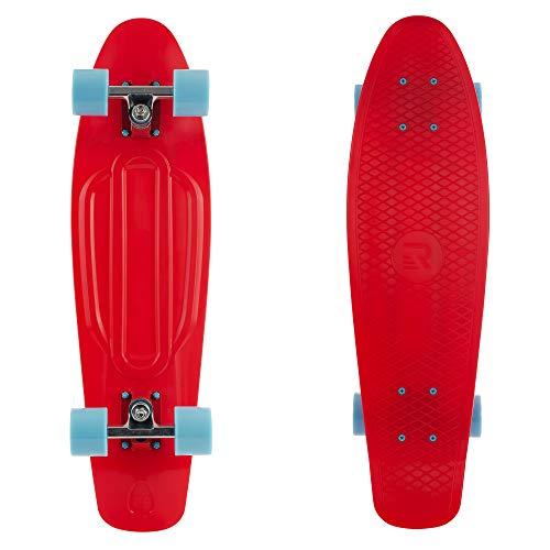 "Retrospec Quip Skateboard 22.5"" Classic Plastic Mini Cruiser Complete Skateboard w/ABEC 7 Bearings, Black (3375)"