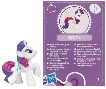 My Little Pony Friendship is Magic 2 Inch PVC Figure Rarity Purple Card