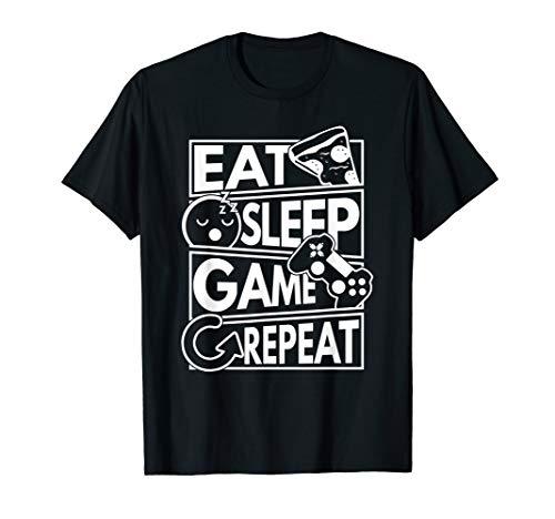 Gamer Eat Sleep Game Repeat T-Shirt
