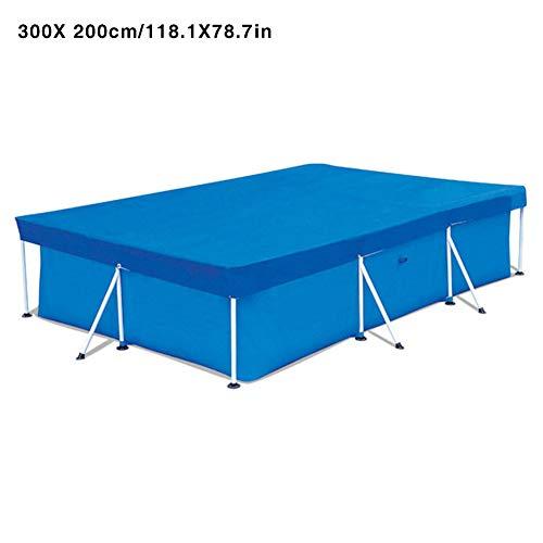 iShine Poolabdeckung Rechteckig Abdeckplane für Frame Pool Schutzhülle UV-Schutz Gewebeplane Schwimmbadabdeckung (300cmx200cm)